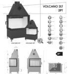 Kominek powietrzny Hajduk Volcano 2LT / 2 PT