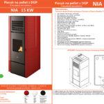 Piecyk na pellet NIA 15kW z DGP na 3 pomieszczenia