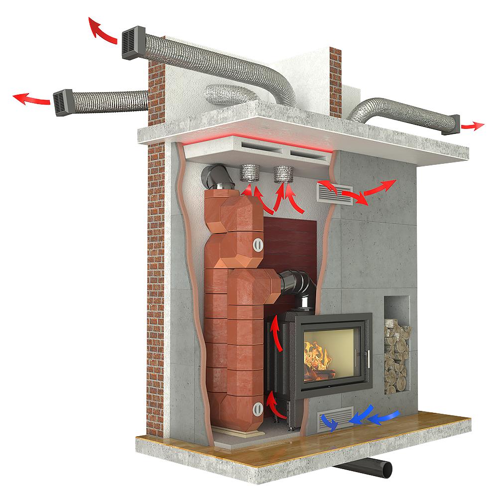 kominek powietrzny akumulacyjny